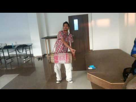 Awesome assamese drum (dhol) playing by Swapnil Anjan Borah , Assam