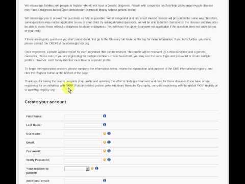 How to register with CMDIR (Congenital Muscle Disease International Registry)