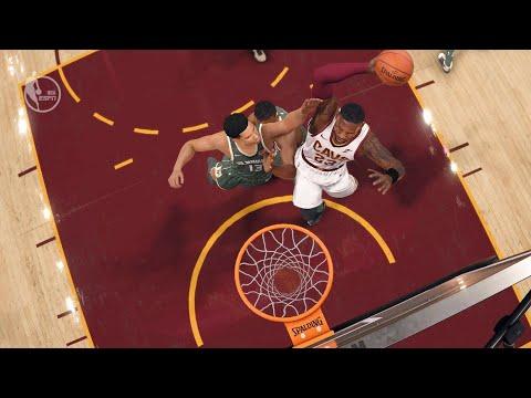 NBA LIVE 18 - Milwaukee Bucks vs Cleveland Cavaliers - 2nd Half - PS4 PRO 1080p - HD