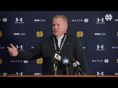 @NDFootball Coach Kelly Press Conference | Citrus Bowl
