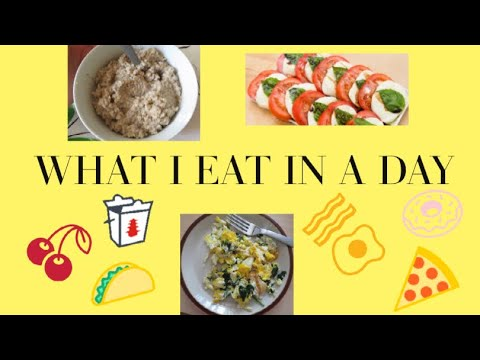 What I eat in a day! (Healthy)