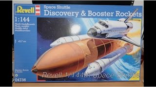 Revell 1/144th Space Shuttle and Boosters + Warbird Tile Decals