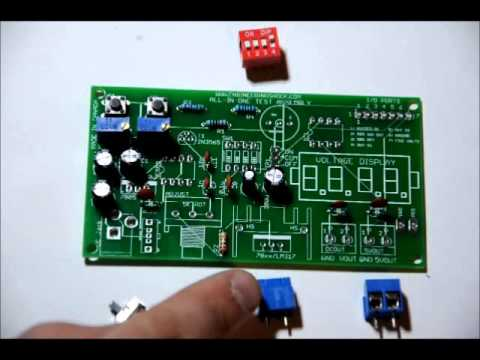 DIY Bench Tester Electronics Kit Assembly Video - Signal Generator - Power Supply - MORE!