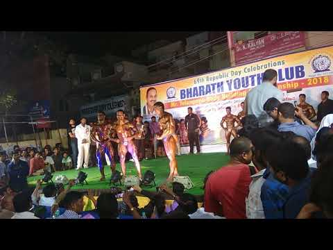 Mr.telangana@title competition body buildings at uppal Hyderabad for 69th republic day 2018