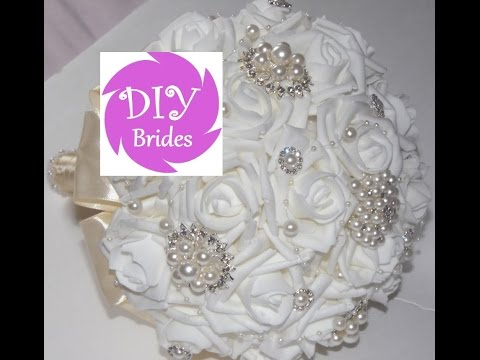 1 DIY Brides Make Your own Brooch Bouquet Fabric Flowers Kit Under  50 -  YouTube 1ab90a3f0d98