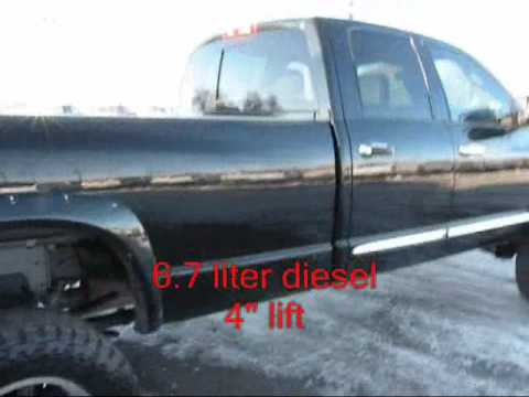 SOLD!!!2007 Dodge Ram 3500 4x4 6.7 Diesel Quad Cab Automatic Laramie Lifted Long Bed SRW - YouTube