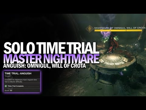 Solo 980 Omnigul Time Trial (Flawless Master Nightmare Hunt Anguish) [Destiny 2]