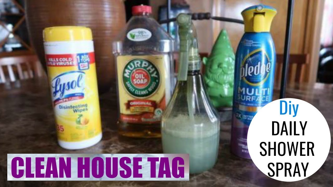 Daily Shower Cleaner | Diy Cleaner | Clean House Tag