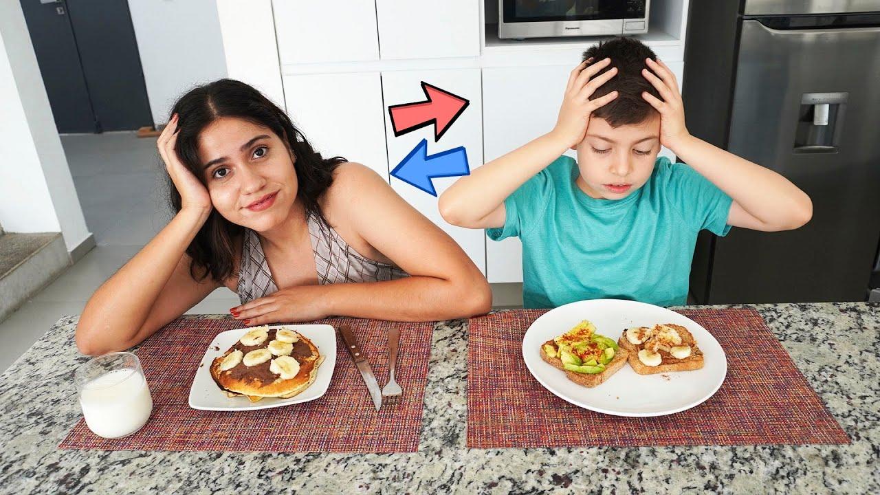 Cambiando dietas con mi hermano pequeño