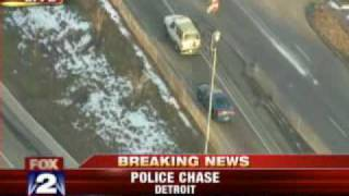 Police Chase in Detroit Ends in Crash, Arrest.flv