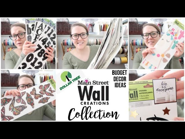 Main Street Wall Creations Collection Dollar Tree Decor Youtube
