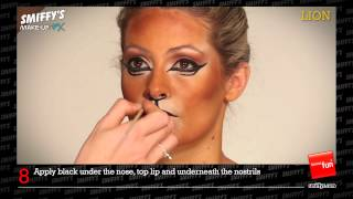 Lion Face Painting Make-up Tutorial