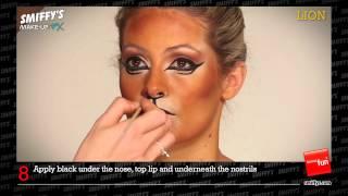 Lion Face Painting Make-up Tutorial Thumbnail