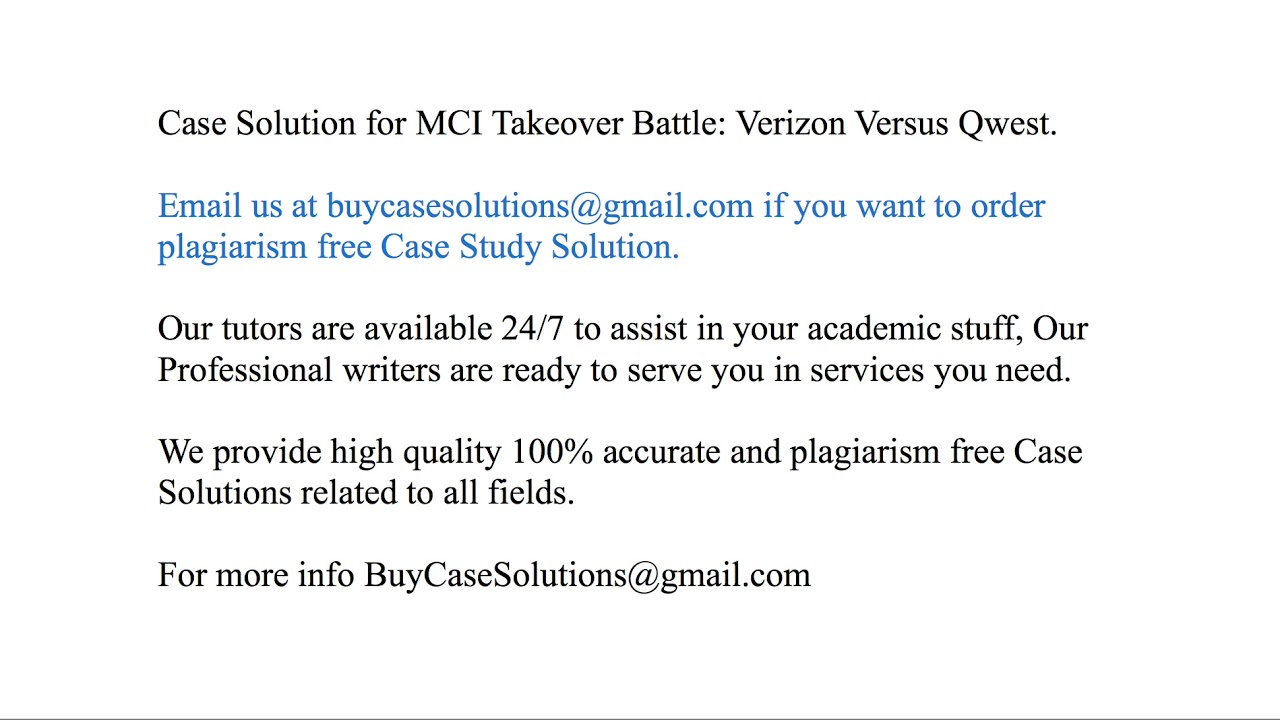 mci verizon qwest case study