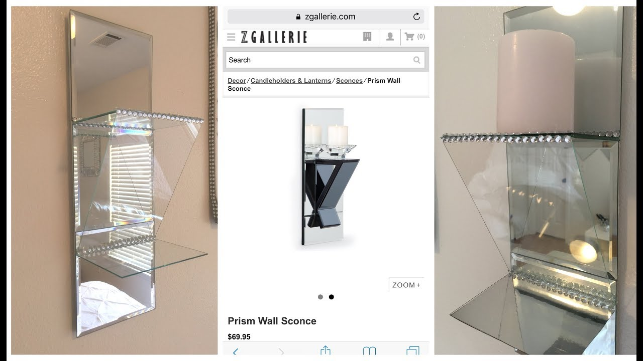 Dollar tree diy zgallerie inspired prism wall sconce youtube dollar tree diy zgallerie inspired prism wall sconce amipublicfo Image collections