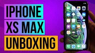 iPhone XS Max Unboxing And First Impressions- Space Grey 256 GB