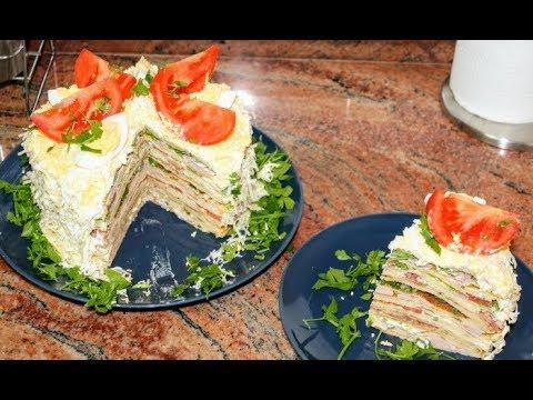 Солена палачинкова торта, вкусно предястие за всеки празник