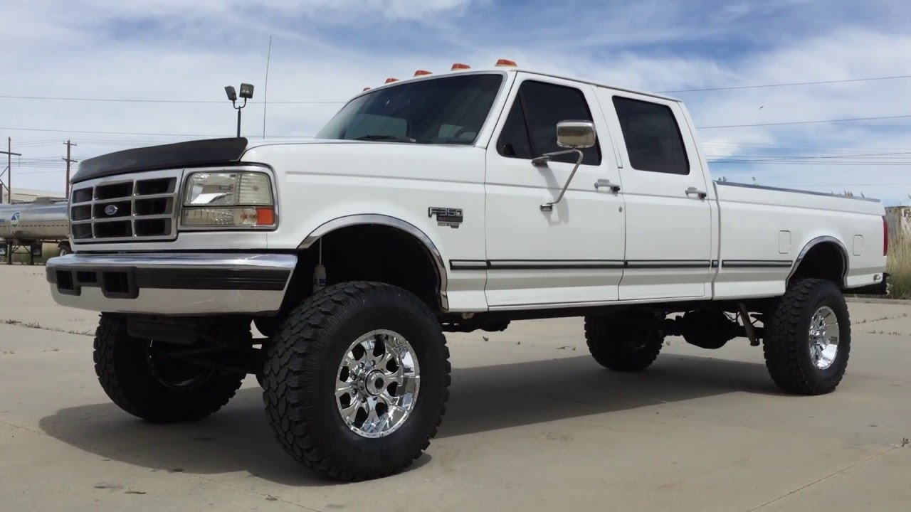 76k original www diesel deals com 1996 ford f350 crew 4x4 lifted 7 3 powerstroke diesel youtube. Black Bedroom Furniture Sets. Home Design Ideas