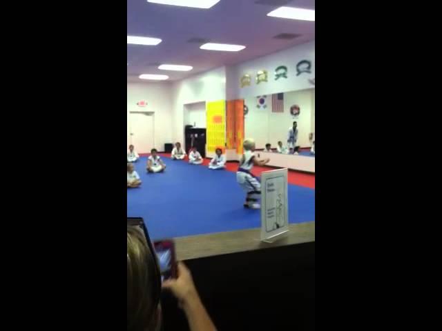 Tyler Andrews flying back kick