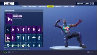 "Fortnite NEW "" Brite Gunner "" skin showcased w/ 70 + dances 