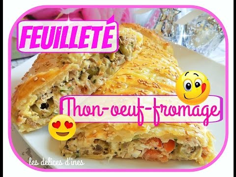 feuillette-thon-oeuf-fromage🍴-recette-facile-pate-feuilletee