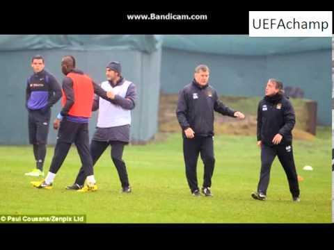 Mancini and Balotelli FIGHT at Training Ground 03.01.2012
