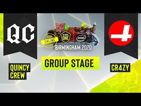 VOD: CR4ZY vs Quincy Crew - ESL One Birmingham - Game 2