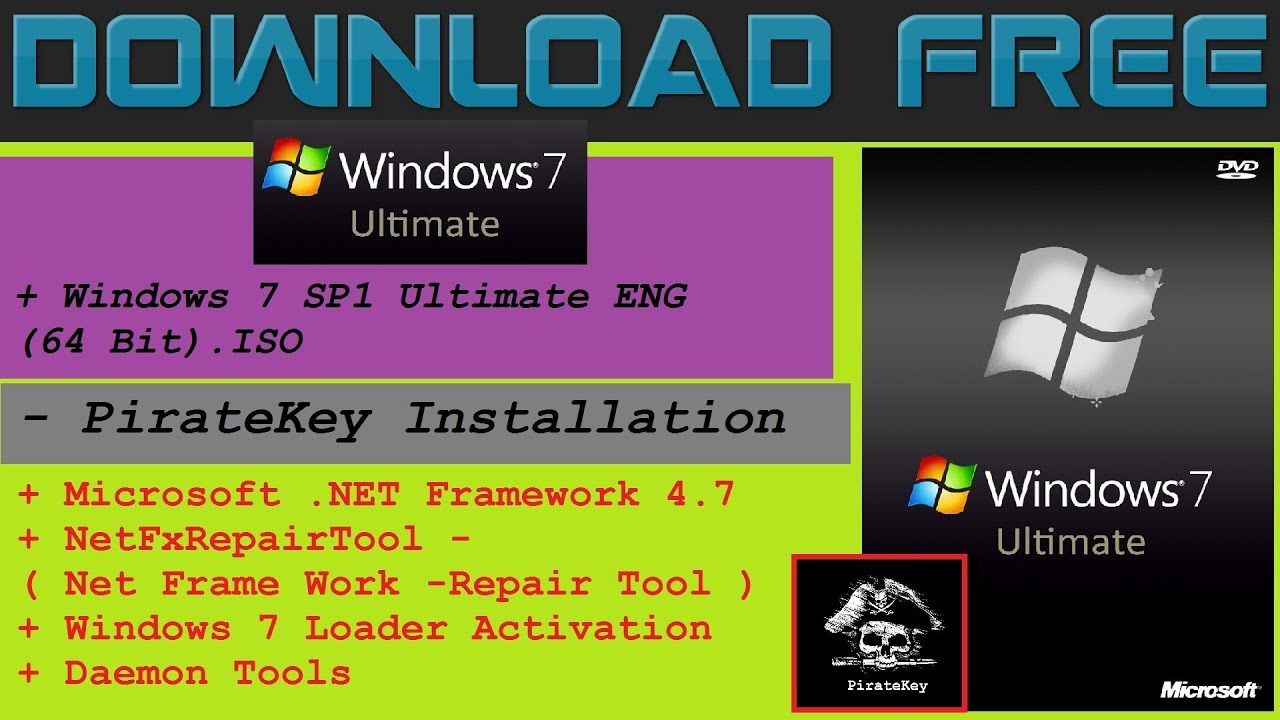 Download Windows 7 SP1 Ultimate ENG (64 Bit).ISO Free - YouTube