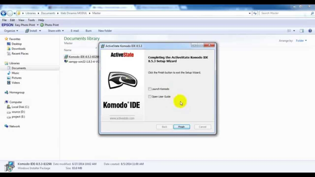 how to get a video to work with komodo edit