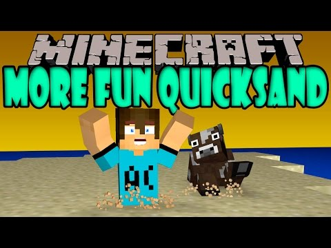 MORE FUN QUICKSAND MOD - Pantanos, Arena Movediza, lodo y mas! - Minecraft mod 1.6.4 y 1.7.10 Review