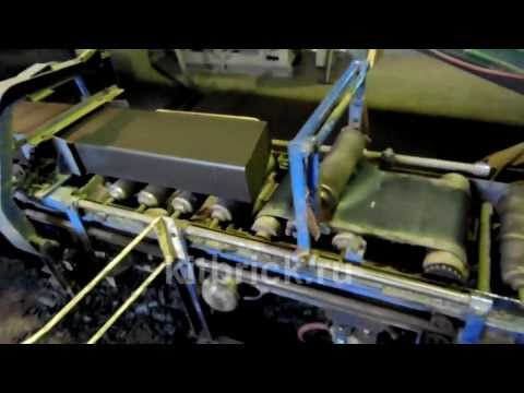 Работа оборудования по производству кирпичей