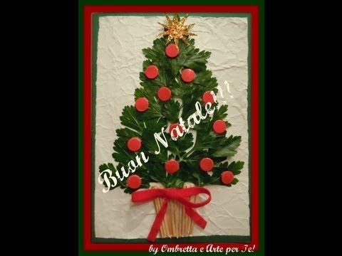 Lavoretti Di Natale Arte Per Te.Biglietto Natalizio Albero Di Natale Christmas Tree Card Fai Da Te Arte Per Te Youtube