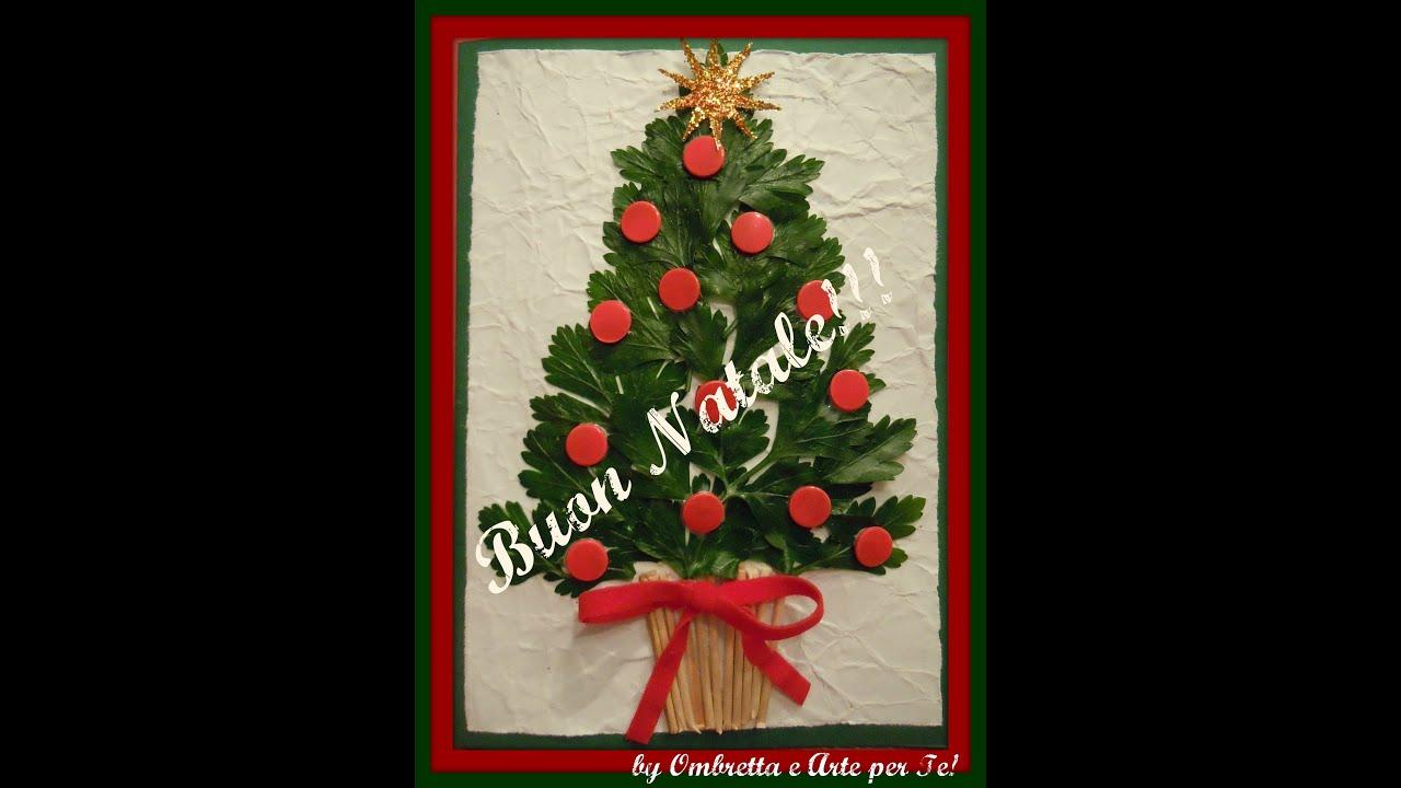 Biglietto natalizio albero di natale christmas tree for Arte fai da te