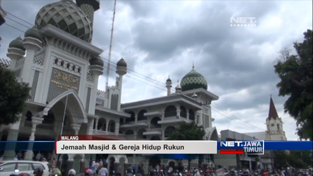 Net Jatim Masjid Gereja Hidup Berdampingan Youtube