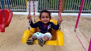 2 years Stuti playing on swing...