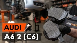 aizmugurē un priekšā Bremžu Kluči uzstādīšana AUDI A6 (4F2, C6): bezmaksas video