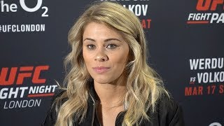 Paige VanZant 'Everyone Hates My Fiance' l UFC London Media Scrum