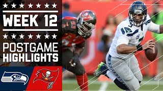 Seahawks vs. Buccaneers | NFL Week 12 Game Highlights