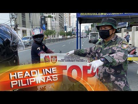 PNP aminadong mahirap ipatupad ang GCQ sa Metro Manila | Headline Pilipinas