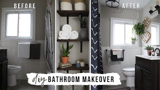 EASY Small Apartment Bathroom Makeover (Renter Friendly!)