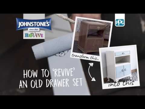 How To Revive Old Drawers with Johnstone's Chalky Furniture Paint - Little Beau Blue | B&M Stores