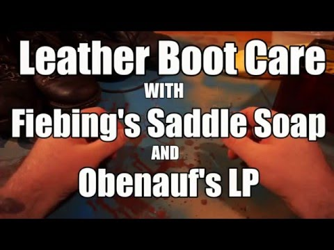 Leather Boots & Shoes: How to clean and condition  Obenauf's & Fiebing's