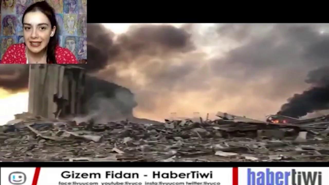 Lübnan'da Yaşanan Patlama Sonrası O Anları Canlı Yayında Takip Ettik!