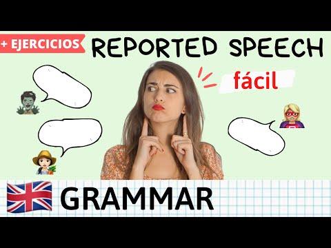 REPORTED SPEECH en inglés - Explicación con ejemplos fácil