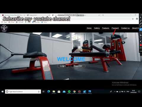Simple Html And Css Website Of Gym Or Fitness Club