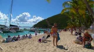 Sunday on the Beach at Soggy Dollar Bar, White Bay, Jost Van Dyke, British Virgin Islands