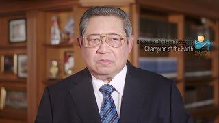 champion of the earth he susilo bambang yudhoyono acceptance speech