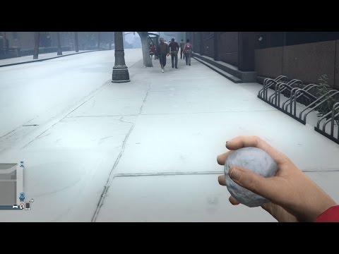 Snow DLC in GTA 5 Online | Snowball fight + Firework Launcer