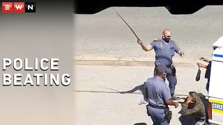 A video circulating on social media shows two police officials beating up and manhandling two individuals. One individual was slapped and the other was beaten with a sjambok. The incident occurred in Worcester on 18 January 2021. The South African Police Service in the Western Cape has condemned the way the individuals were treated. Further investigation is to follow. Video supplied by SAPS.