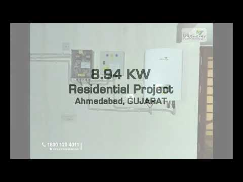 8.94 kw, Residential Solar Project, Bopal, Ahmedabad,Gujarat